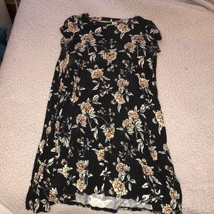 Forever 21 Black Flower Dress
